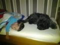 Oskar en bewaker Aafke